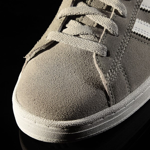 adidas Campus ADV Shoe Soft Grey, White Closeup