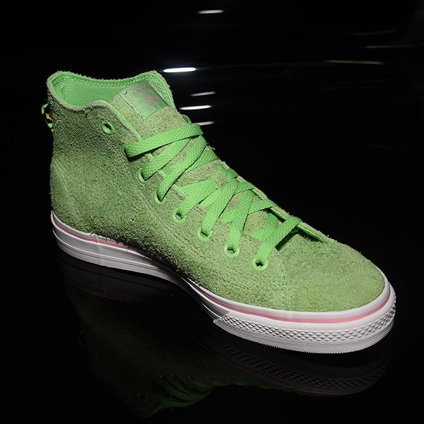 adidas Nizza Hi RF Shoes Spring Green, Cloud White, Light Pink Rotate 4:30