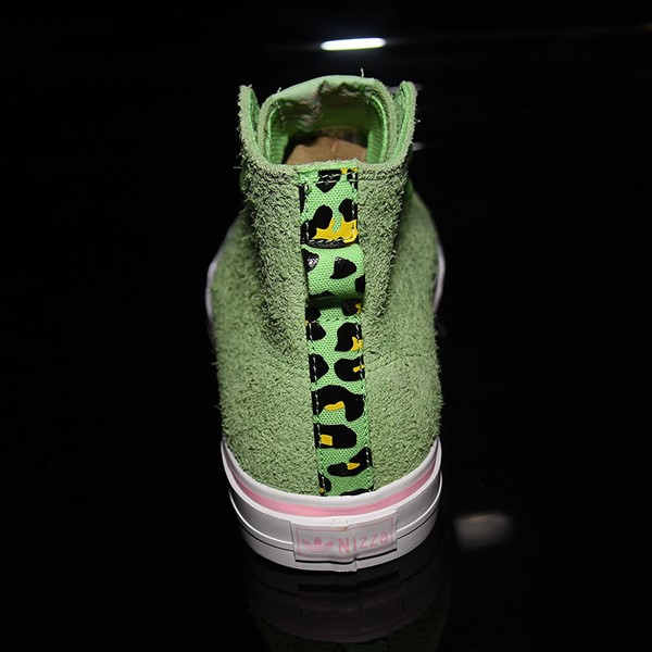adidas Nizza Hi RF Shoes Spring Green, Cloud White, Light Pink Rotate 12 O'Clock