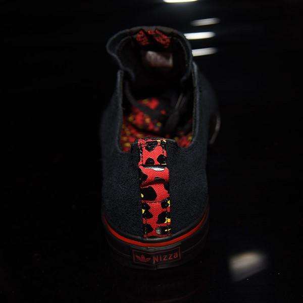 adidas Nizza RF Shoes Core Black, Scarlet, White Rotate 12 O'Clock