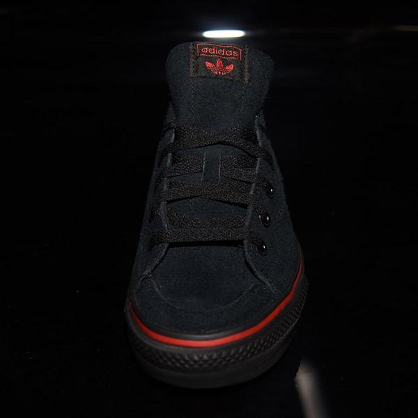 adidas Nizza RF Shoes Core Black, Scarlet, White Rotate 6 O'Clock