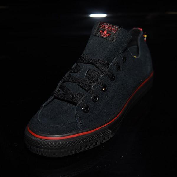 adidas Nizza RF Shoes Core Black, Scarlet, White Rotate 7:30