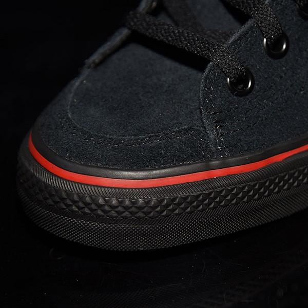 adidas Nizza RF Shoes Core Black, Scarlet, White Closeup