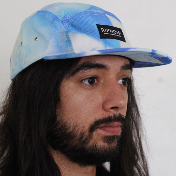 RIPNDIP Camp Hat Aqua On Porpe From the Front