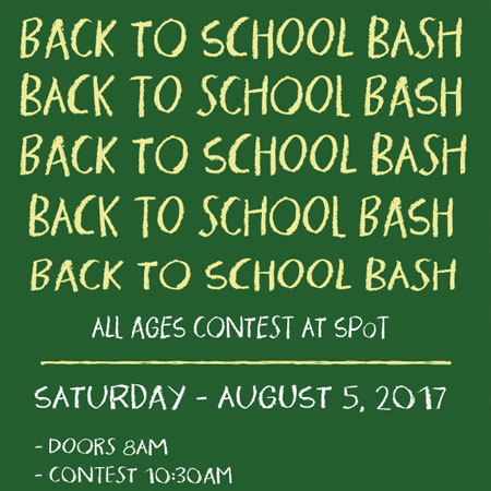 Back to School Bash Sponsored Qualifiers