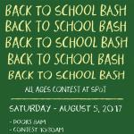 Back to School Bash 9 to 12 Results